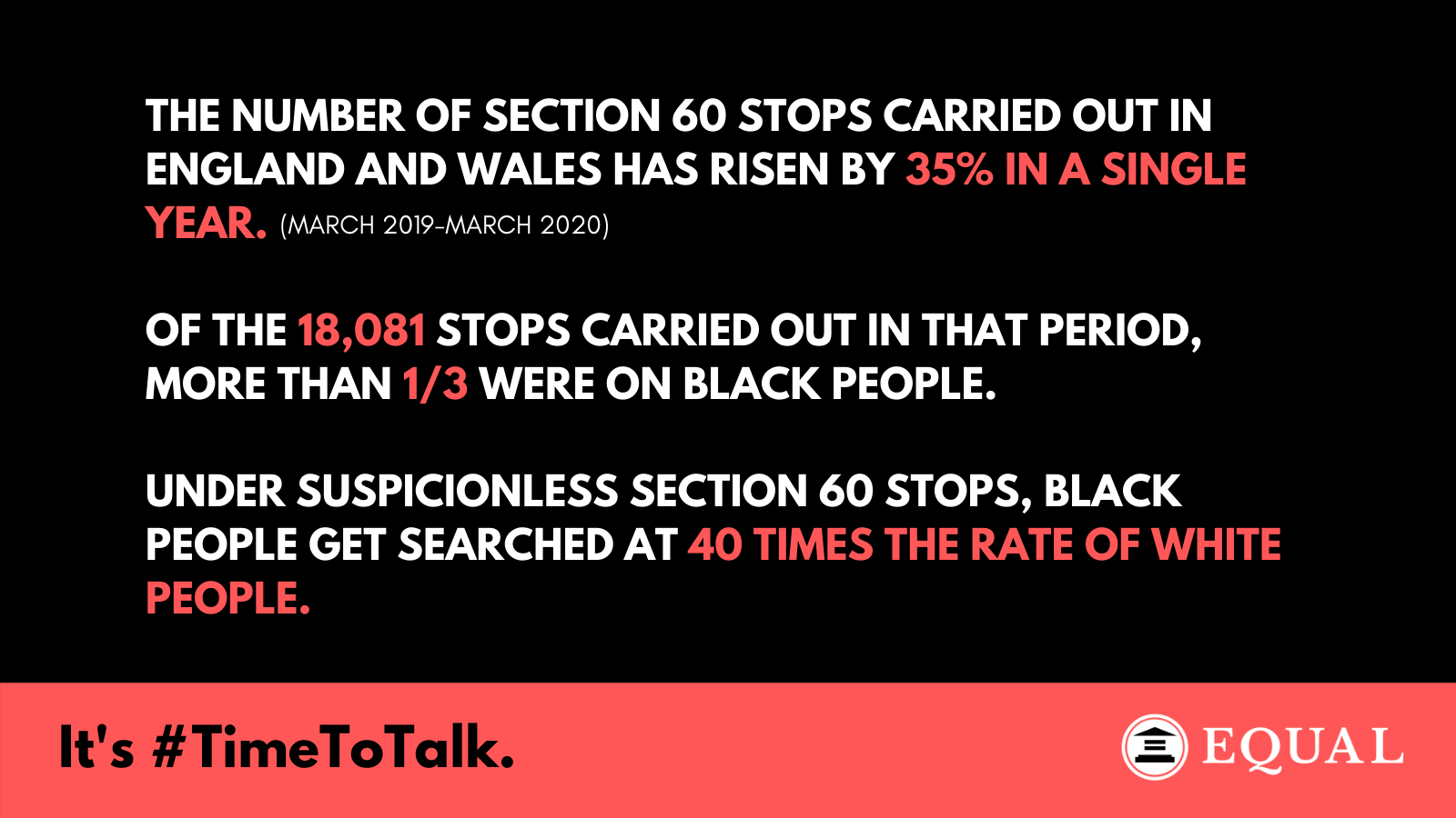 Statistics of Stop and Search from 2019 - 2020